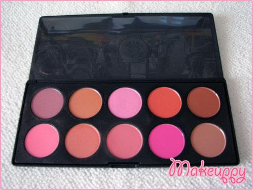 La 10 Palette blush