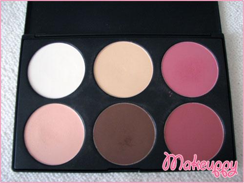La 6 palette (powder+blush+bronzer)