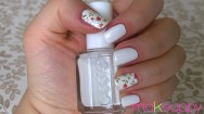 Easy white manicure