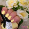 Yellow waterlilies inspired manicure