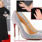 Adele's Louboutin Inspired Manicure